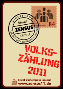 AK ZENSUS Plakat Volkszählung 2011 SDS Hochschulgruppe Uni Hamburg