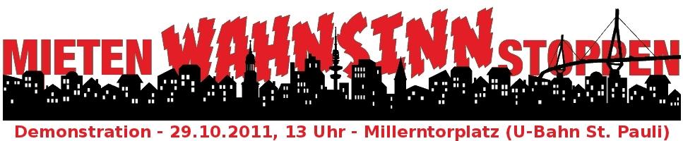 Mietenwahnsinn stoppen - Wohnraum vergesellschaften Hamburg